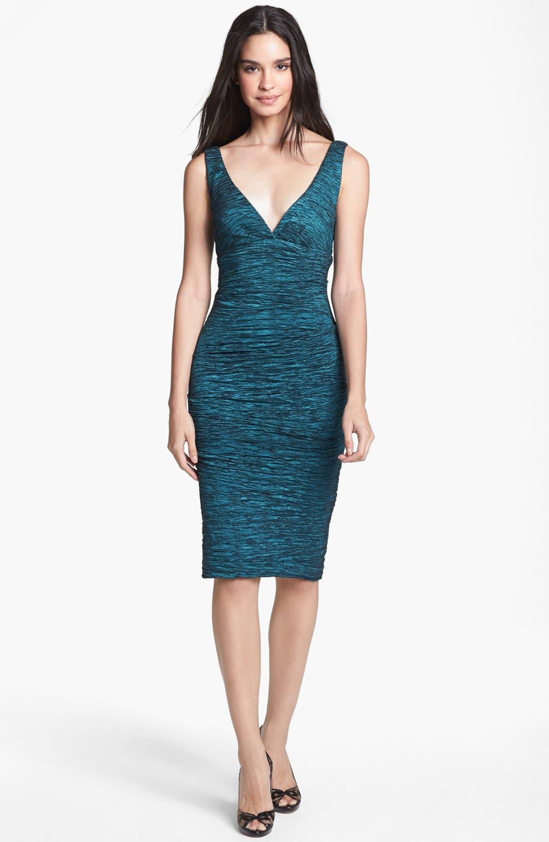 Main Image - Xscape Crinkled Empire Sheath Dress