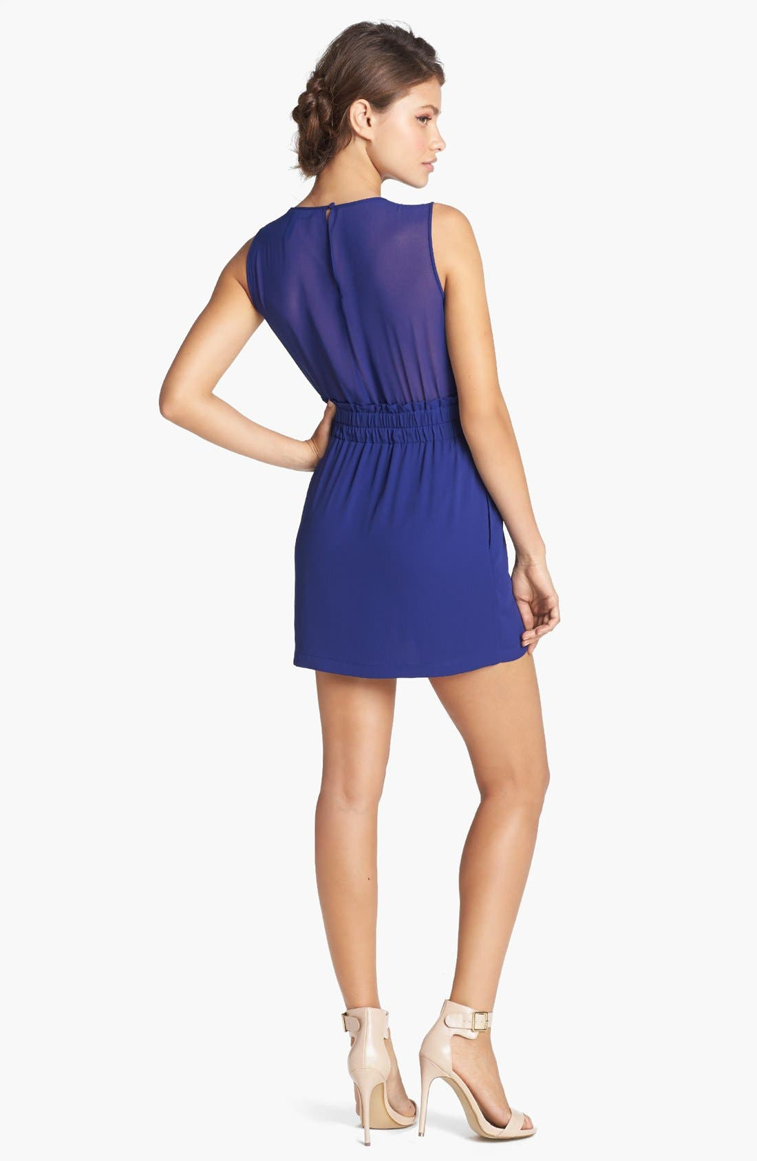 Alternate Image 2  - BCBGMAXAZRIA Illusion Cutout Fit & Flare Dress