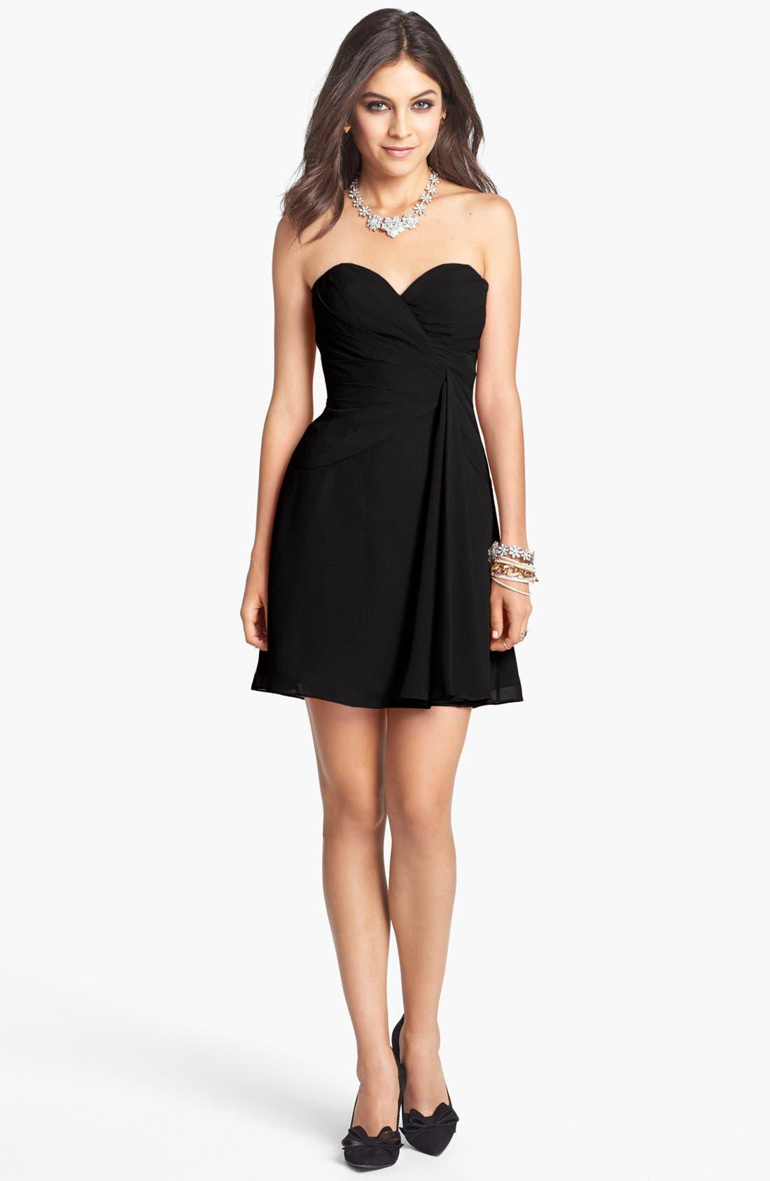 Alternate Image 1 Selected - Faviana Strapless Chiffon Dress