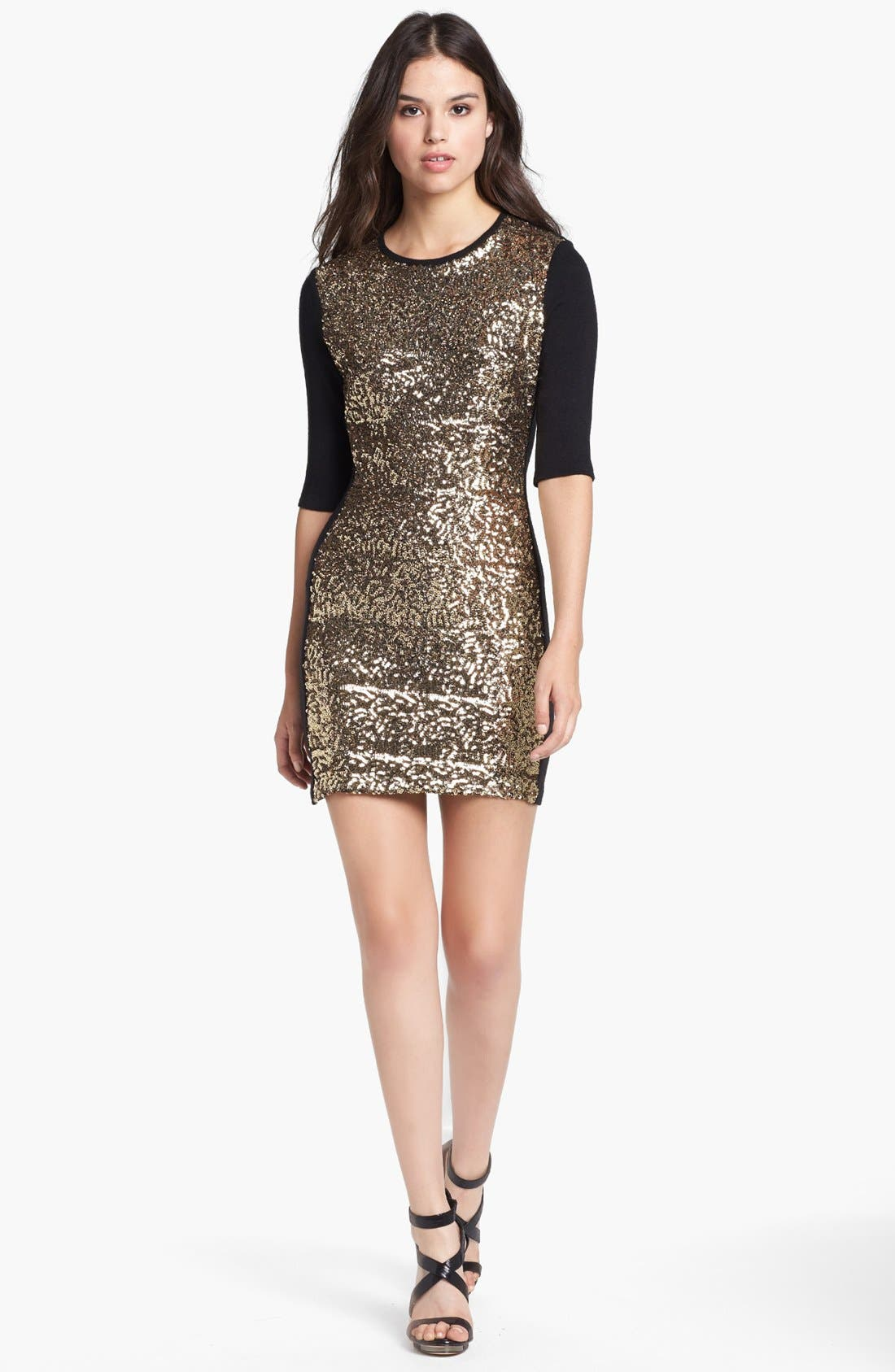 Main Image - Dolce Vita Sequin Front Sweater Dress