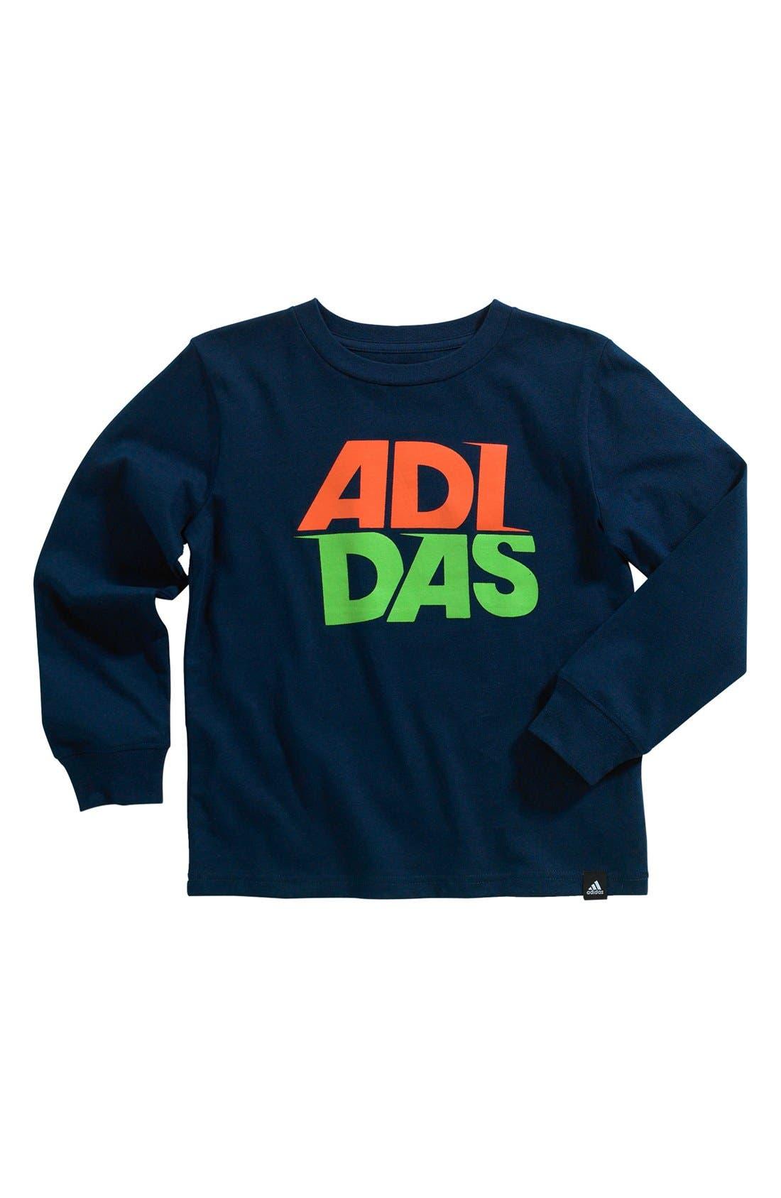 Main Image - adidas 'Motion' T-Shirt (Little Boys)