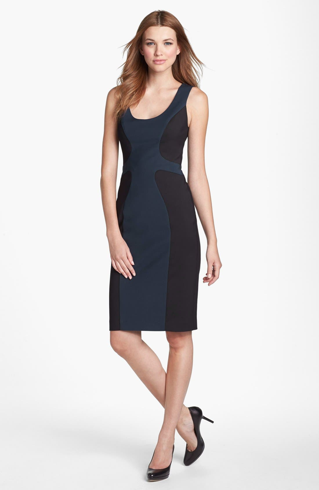 Alternate Image 1 Selected - Black Halo 'Annabelle' Colorblock Sheath Dress