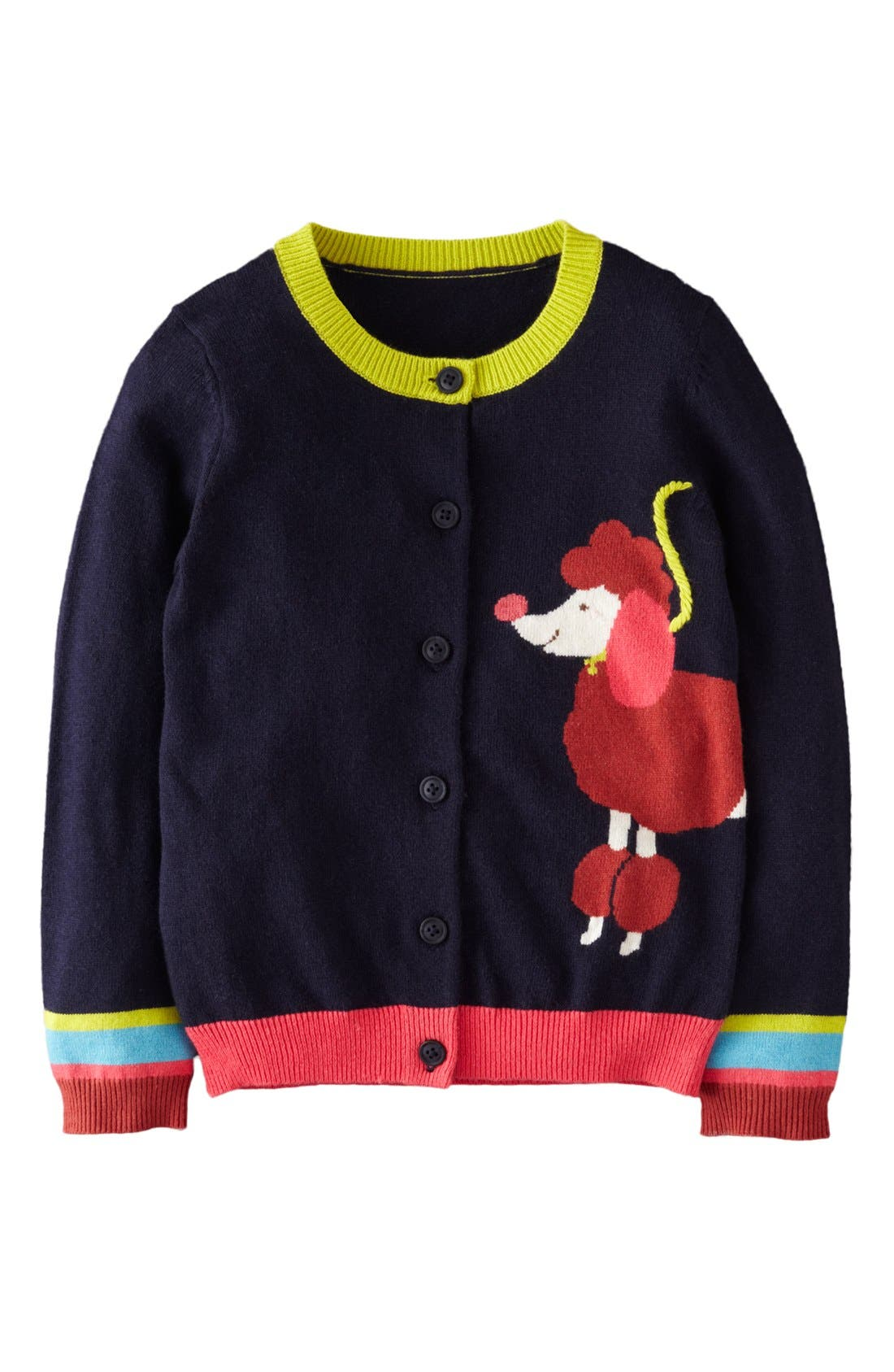 Alternate Image 1 Selected - Mini Boden 'Fun' Cardigan (Toddler Girls)