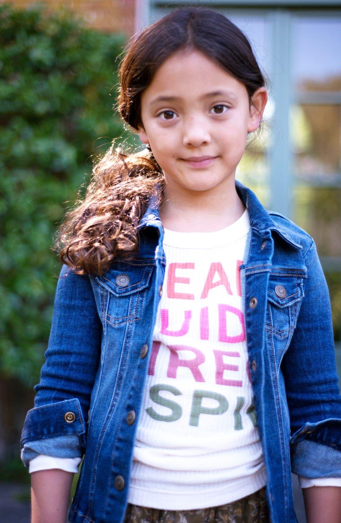 Alternate Image 2  - Peek 'Scarpa' Denim Jacket (Toddler Girls, Little Girls & Big Girls)