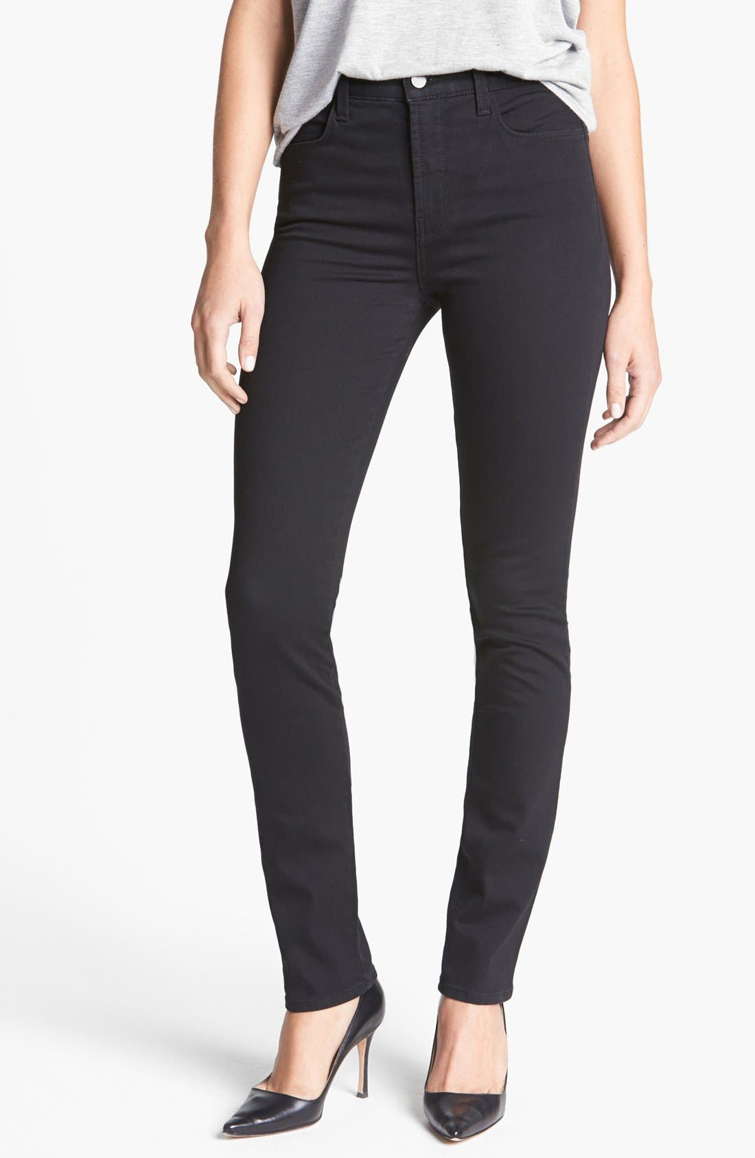 Main Image - J Brand '2112 Rail' High Rise Skinny Jeans (Hewson)