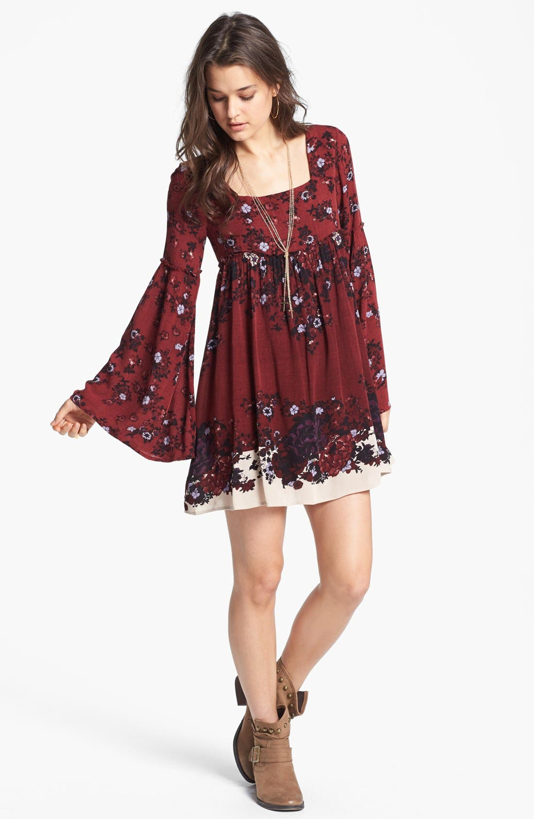 Alternate Image 1 Selected - Free People 'Snap Out of It' Print Minidress