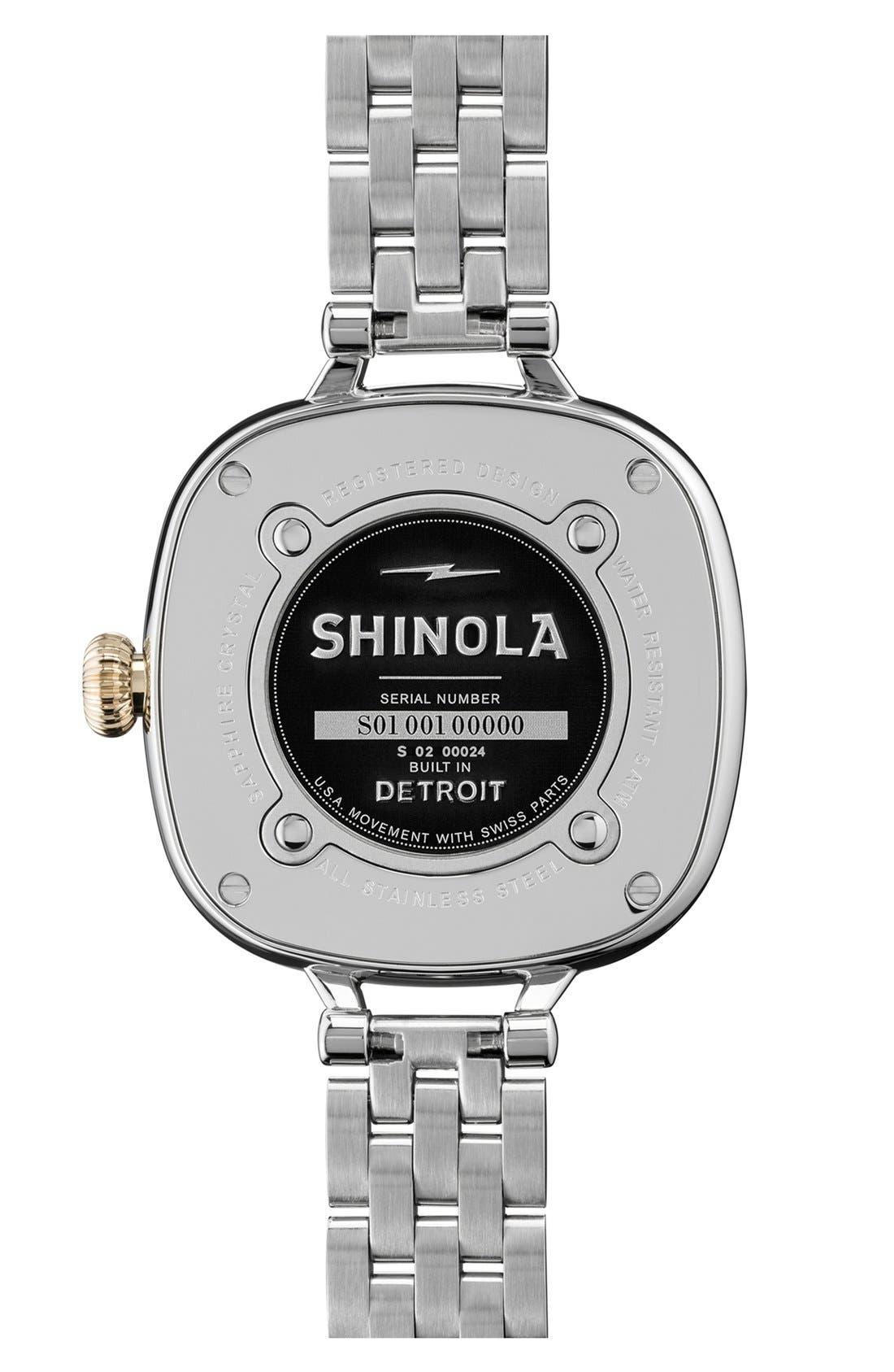 Alternate Image 2  - Shinola The Gomelsky Bracelet Watch, 36mm