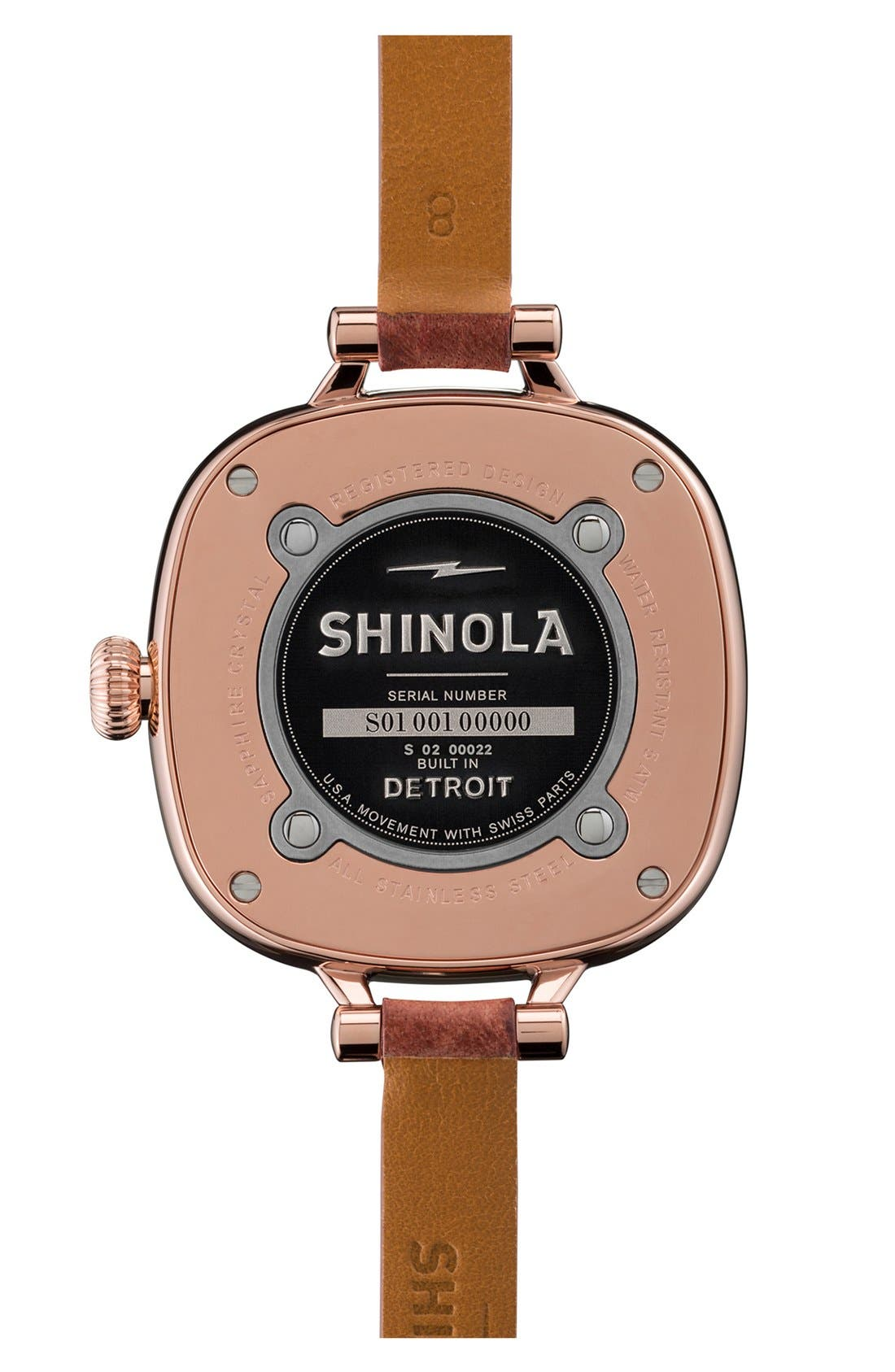 Alternate Image 2  - Shinola The Gomelsky Leather Strap Watch, 36mm
