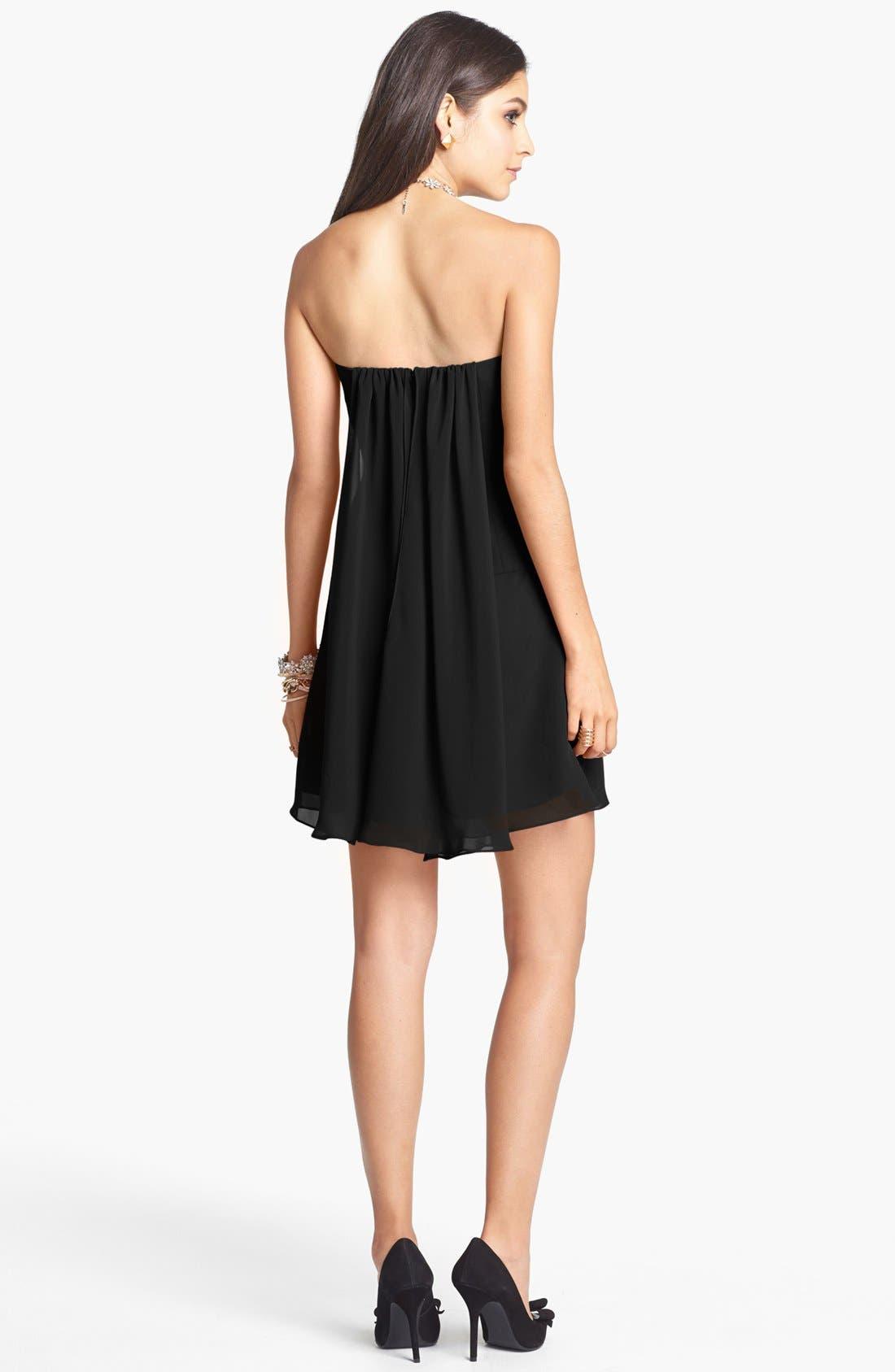 Alternate Image 2  - Faviana Strapless Chiffon Dress