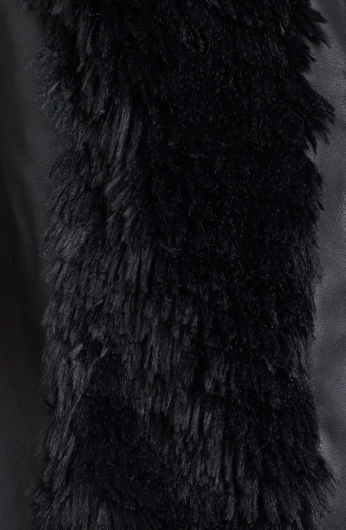 Alternate Image 3  - kensie Faux Fur & Faux Leather Vest