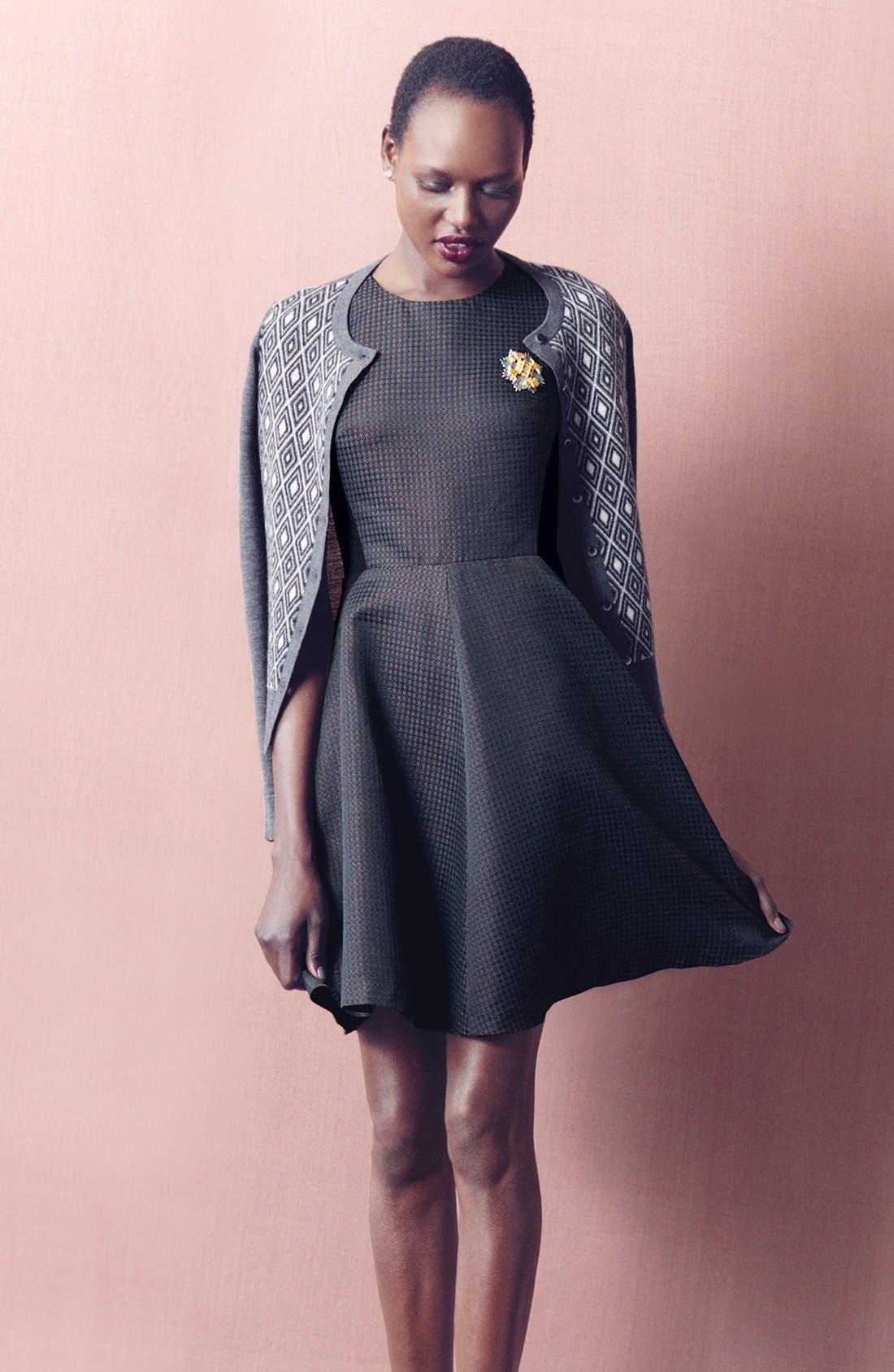 Alternate Image 6  - Halogen® Jacquard Fit & Flare Dress (Regular & Petite)