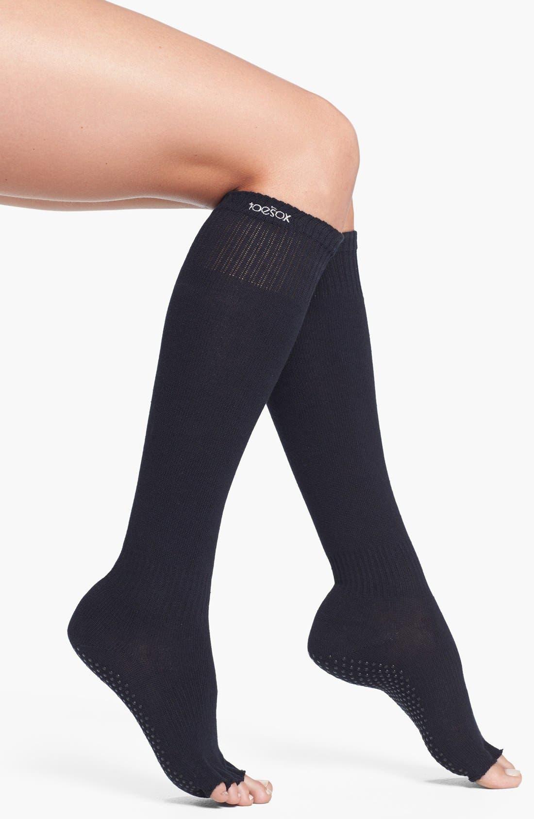 Alternate Image 1 Selected - ToeSox Scrunch Knee High Half Toe Socks
