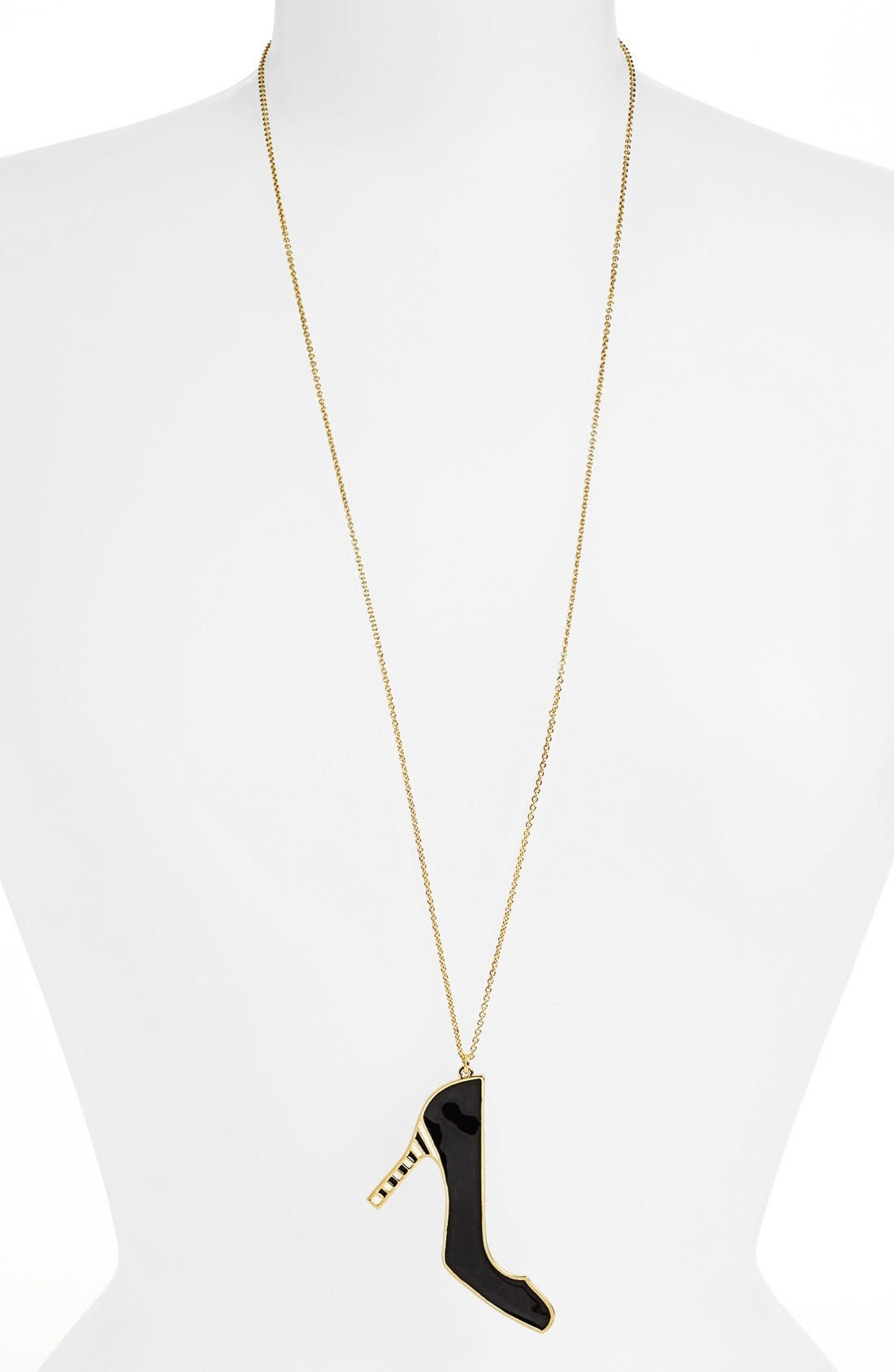 Main Image - kate spade new york 'shoe in' long pendant necklace