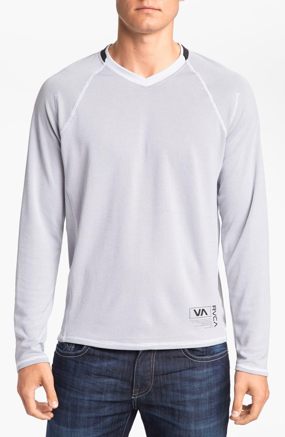 Main Image - RVCA 'Fraction' Long Sleeve V-Neck T-Shirt