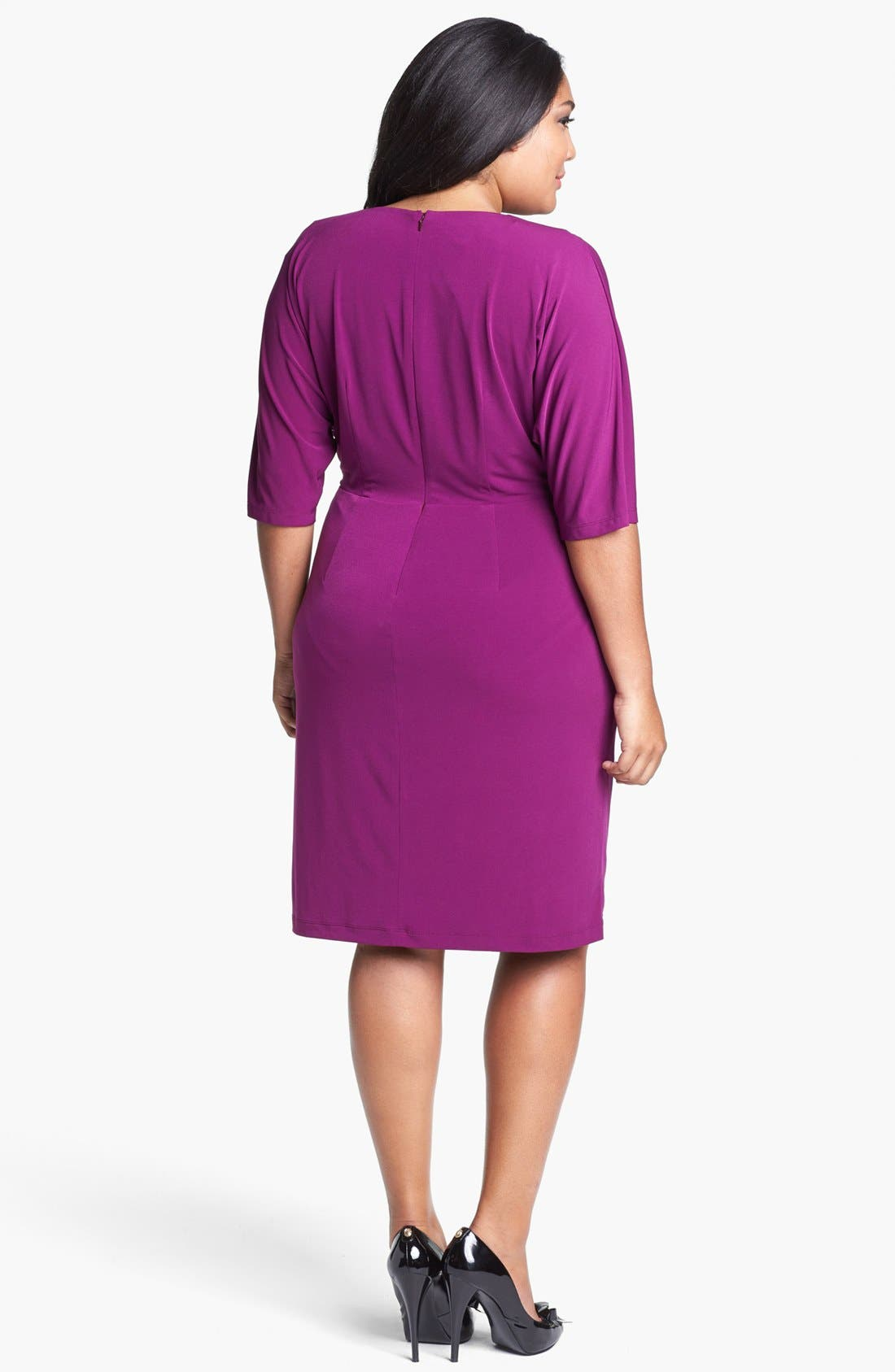 Alternate Image 2  - Ivy & Blu Draped Dress (Plus Size)