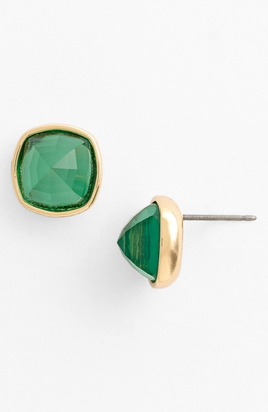 Alternate Image 1 Selected - Anne Klein Cushion Cut Stone Stud Earrings