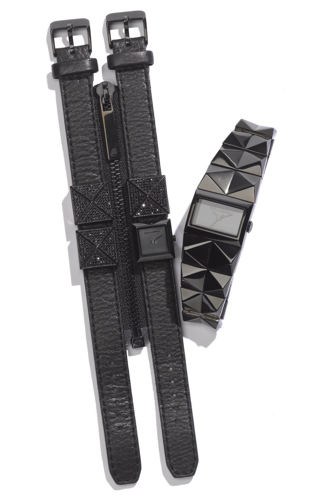 Alternate Image 6  - KARL LAGERFELD Double Strap Cuff Watch