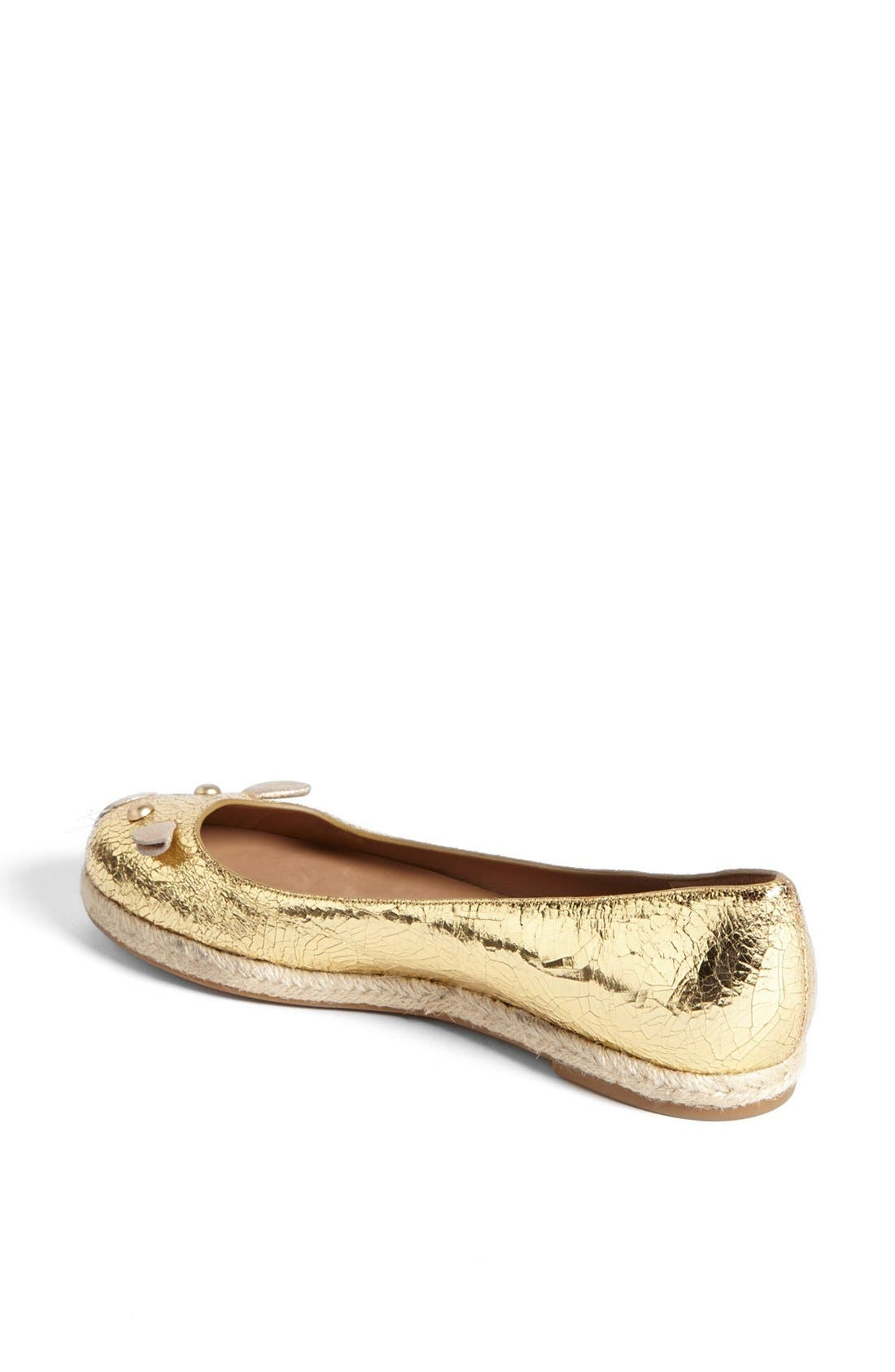 Alternate Image 2  - MARC BY MARC JACOBS 'Mouse' Metallic Calfskin Leather Espadrille Flat
