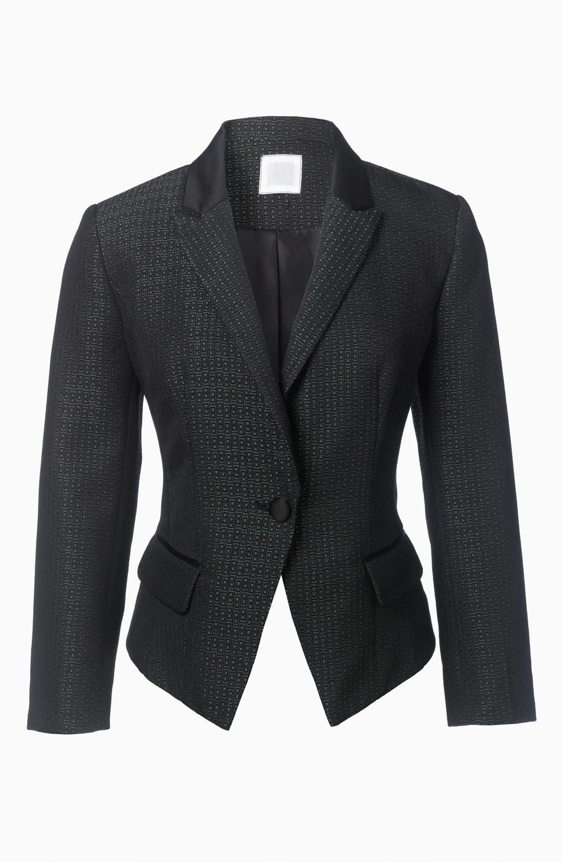 Alternate Image 8  - Halogen® Jacquard One Button Blazer