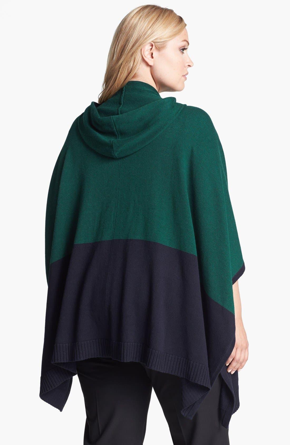 Alternate Image 2  - MICHAEL Michael Kors Colorblock Poncho Sweater (Plus Size)