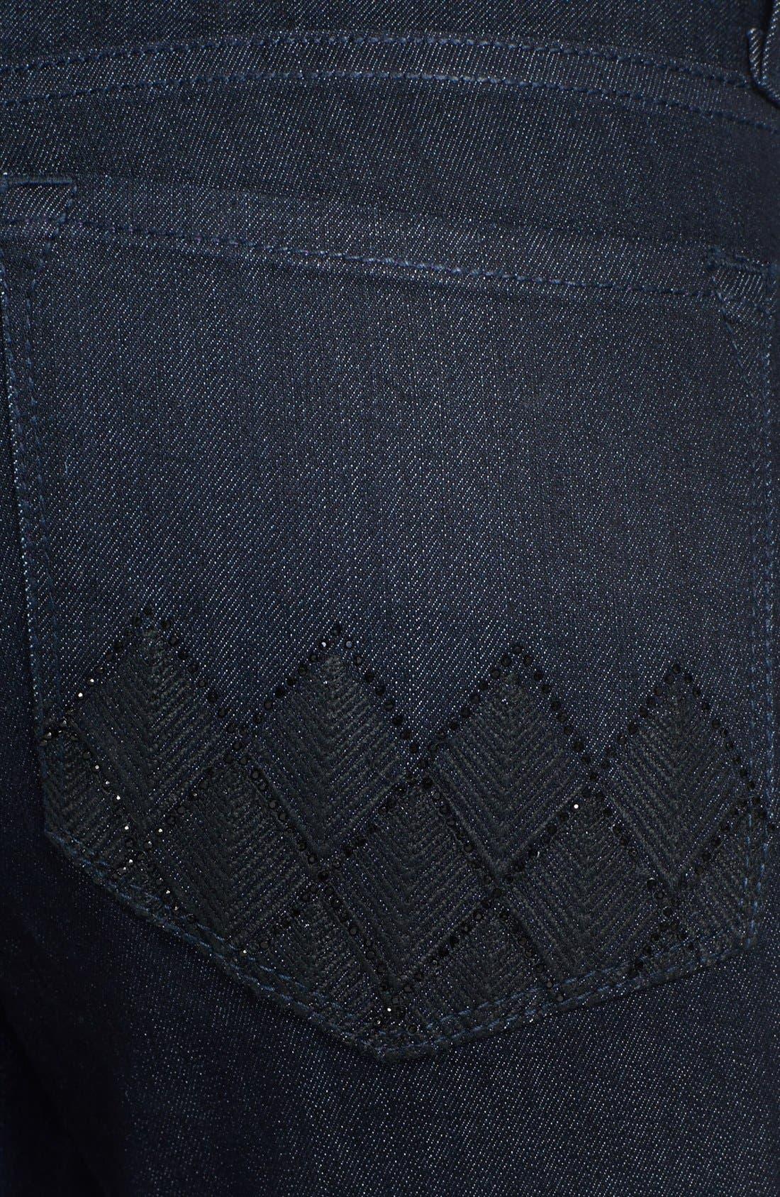 Alternate Image 2  - NYDJ 'Marilyn' Embellished Pocket Stretch Straight Leg Jeans