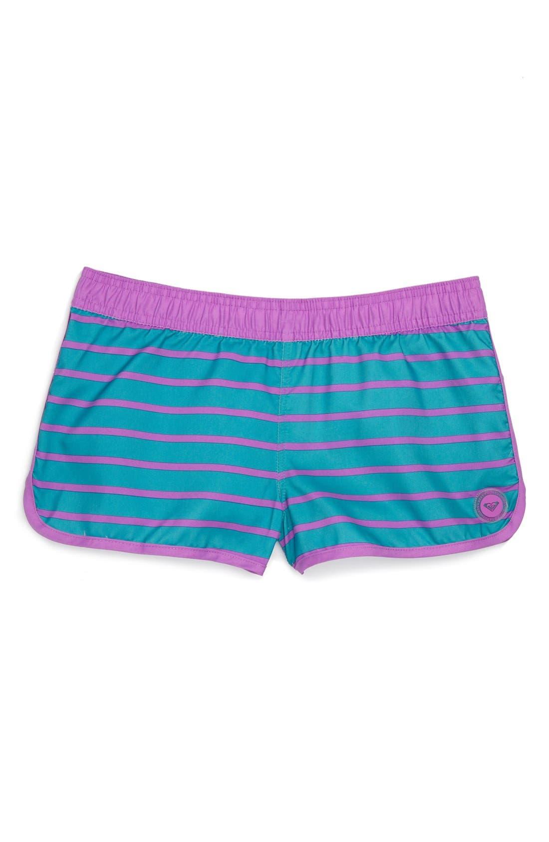 Alternate Image 1 Selected - Roxy 'Tropic Sun' Board Shorts (Big Girls)