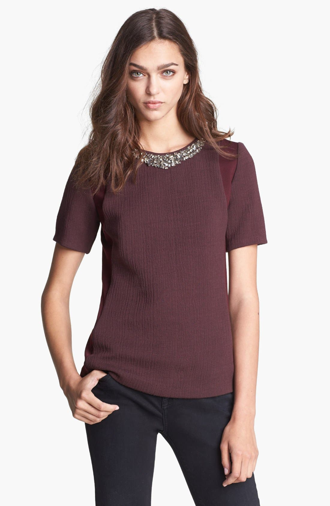 Alternate Image 1 Selected - Rebecca Taylor Embellished Tee