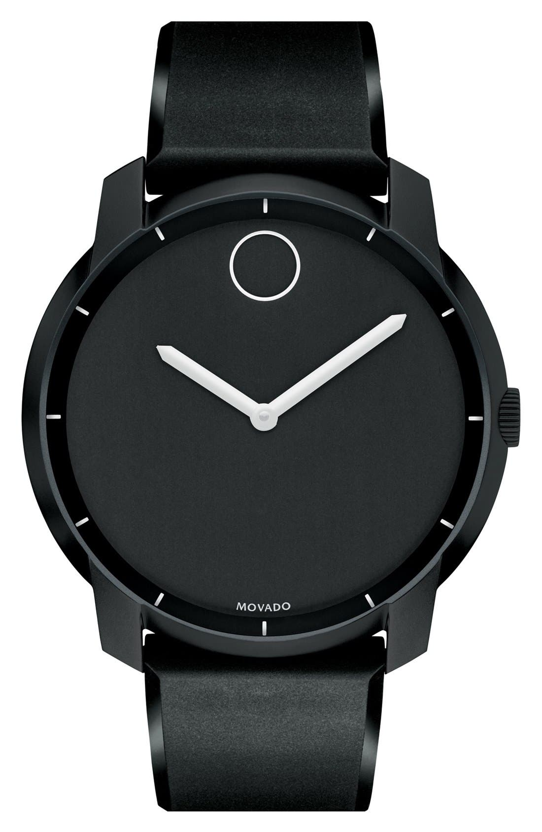 Alternate Image 1 Selected - Movado 'Bold' Silicone Strap Watch, 44mm