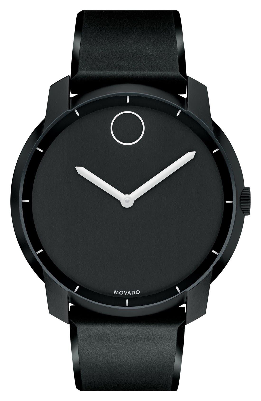 Main Image - Movado 'Bold' Silicone Strap Watch, 44mm