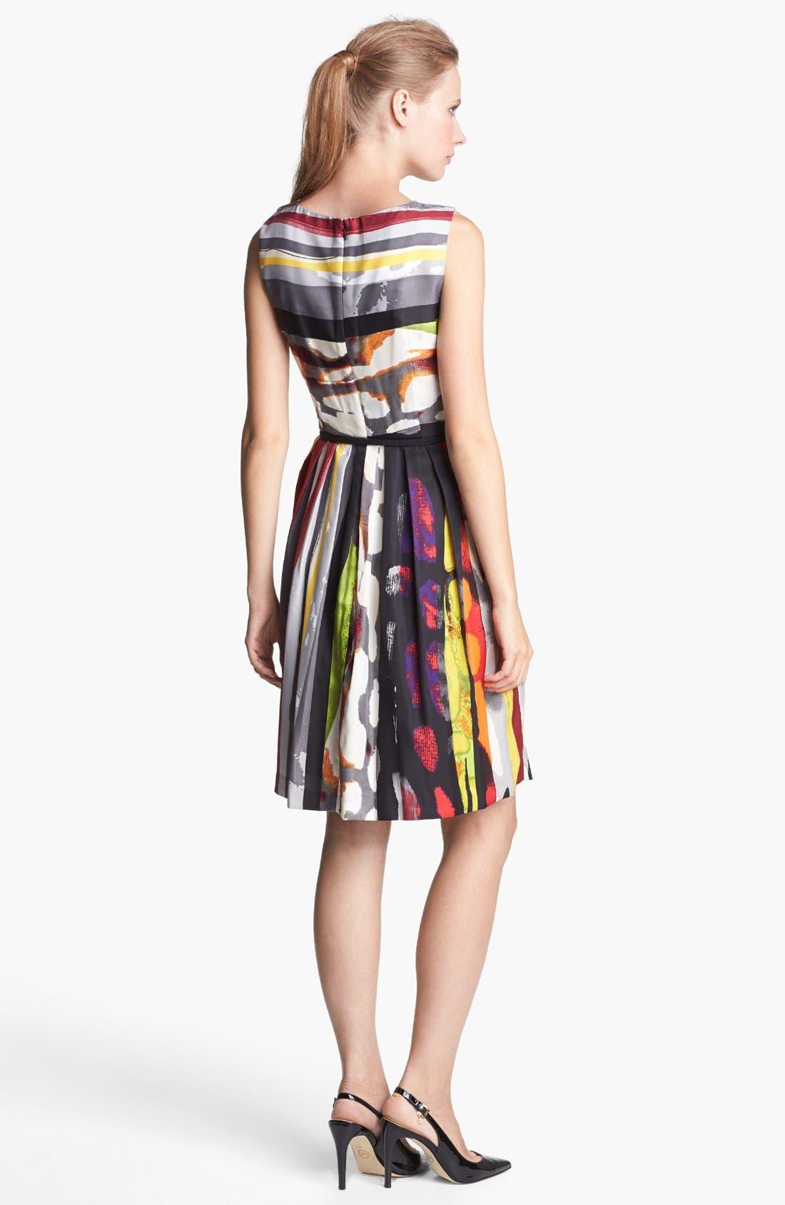 Alternate Image 2  - Ellen Tracy Print Fit & Flare Dress