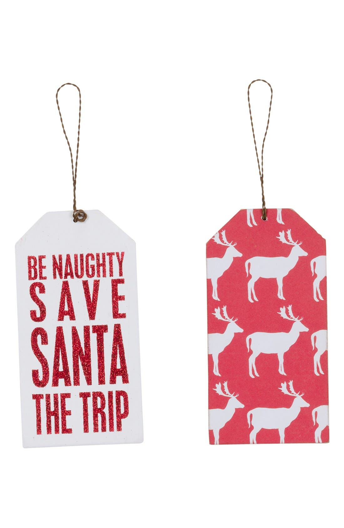 Alternate Image 1 Selected - Primitives by Kathy 'Be Naughty' Wine Tag Ornament
