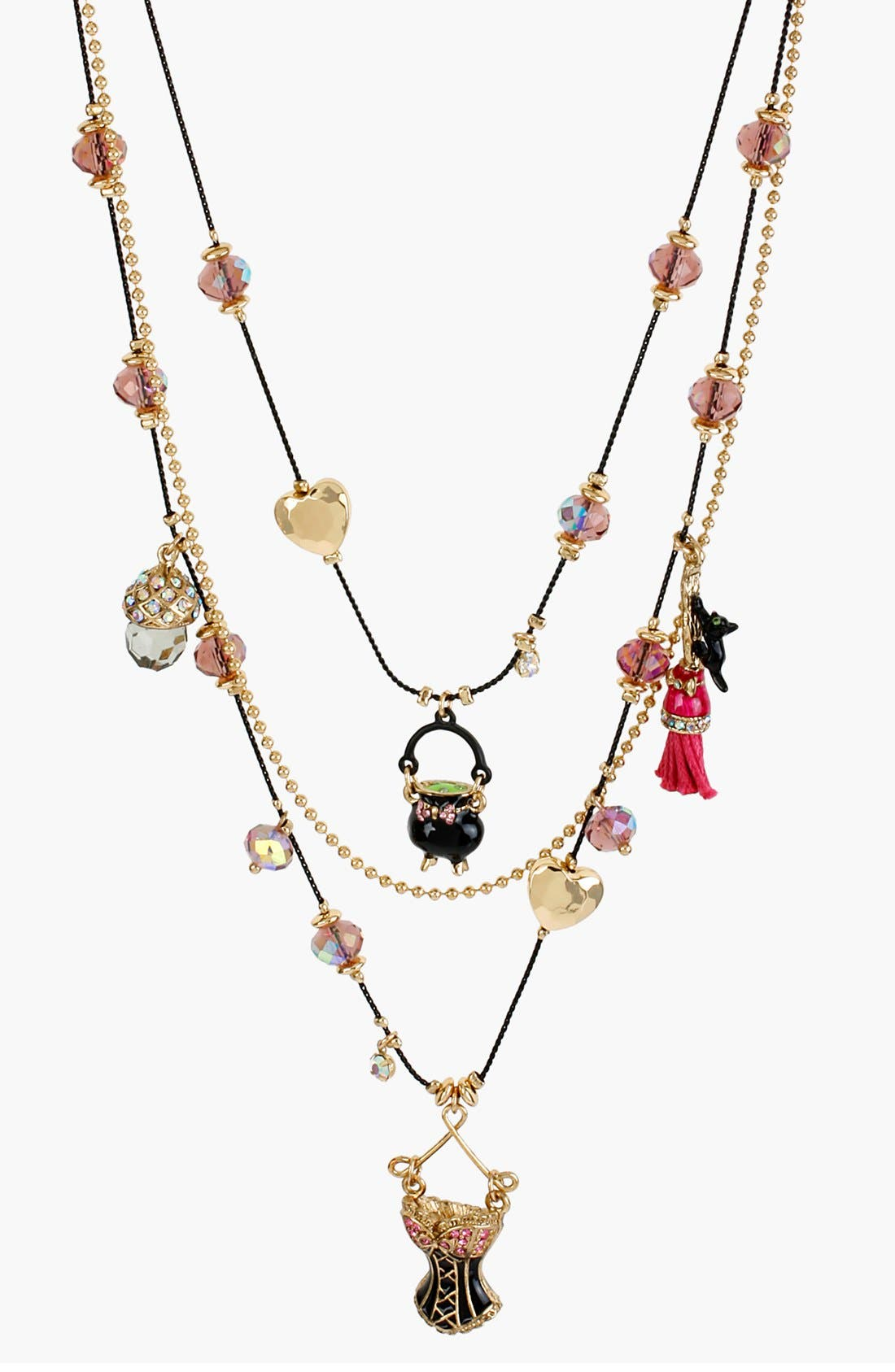 Alternate Image 1 Selected - Betsey Johnson 'Enchanted Forest' Multistrand Necklace