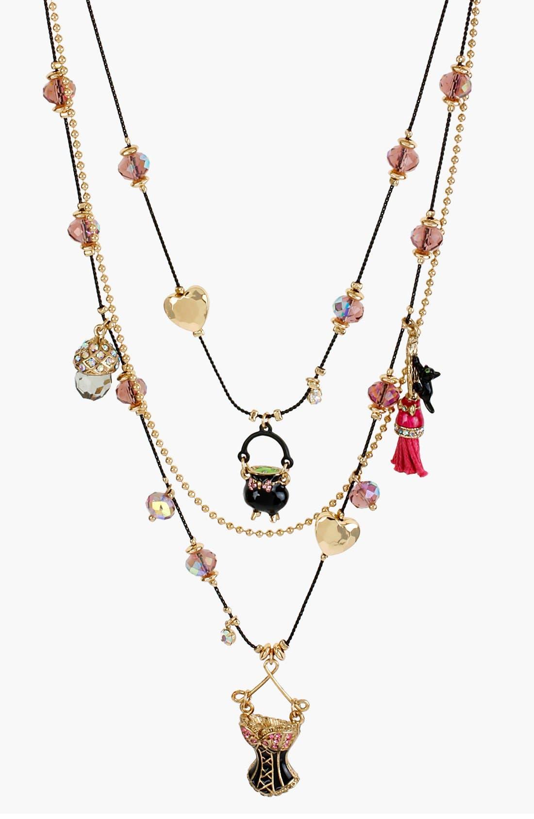 Main Image - Betsey Johnson 'Enchanted Forest' Multistrand Necklace