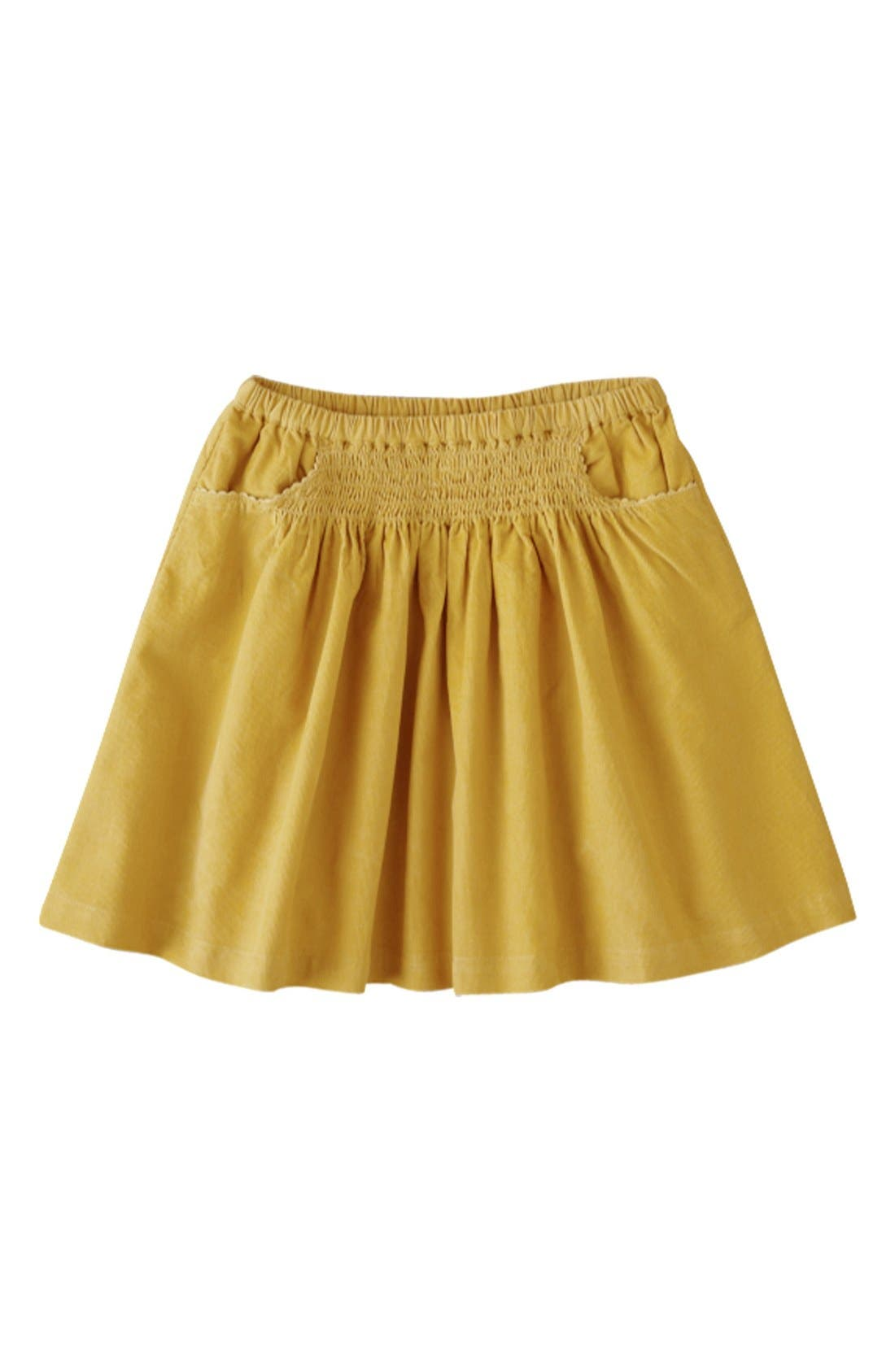 Alternate Image 1 Selected - Mini Boden 'Everyday' Corduroy Skirt (Little Girls & Big Girls)