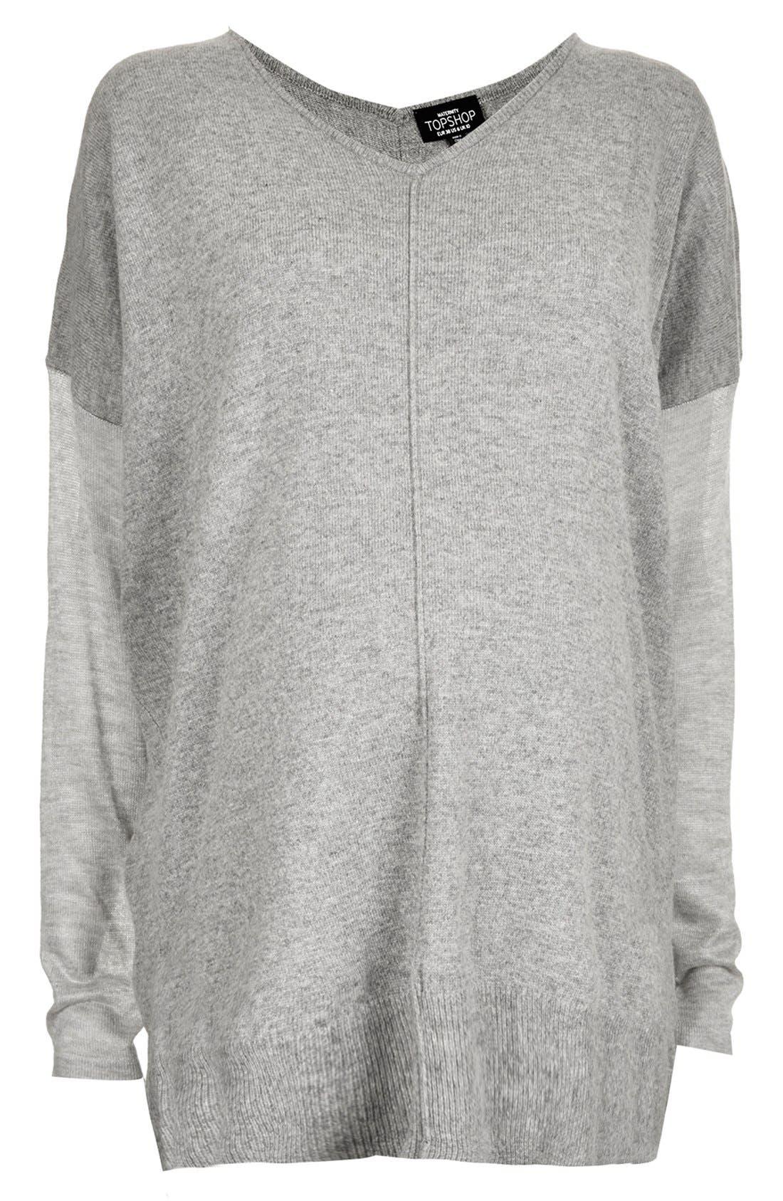 Alternate Image 3  - Topshop V-Neck Maternity Sweater