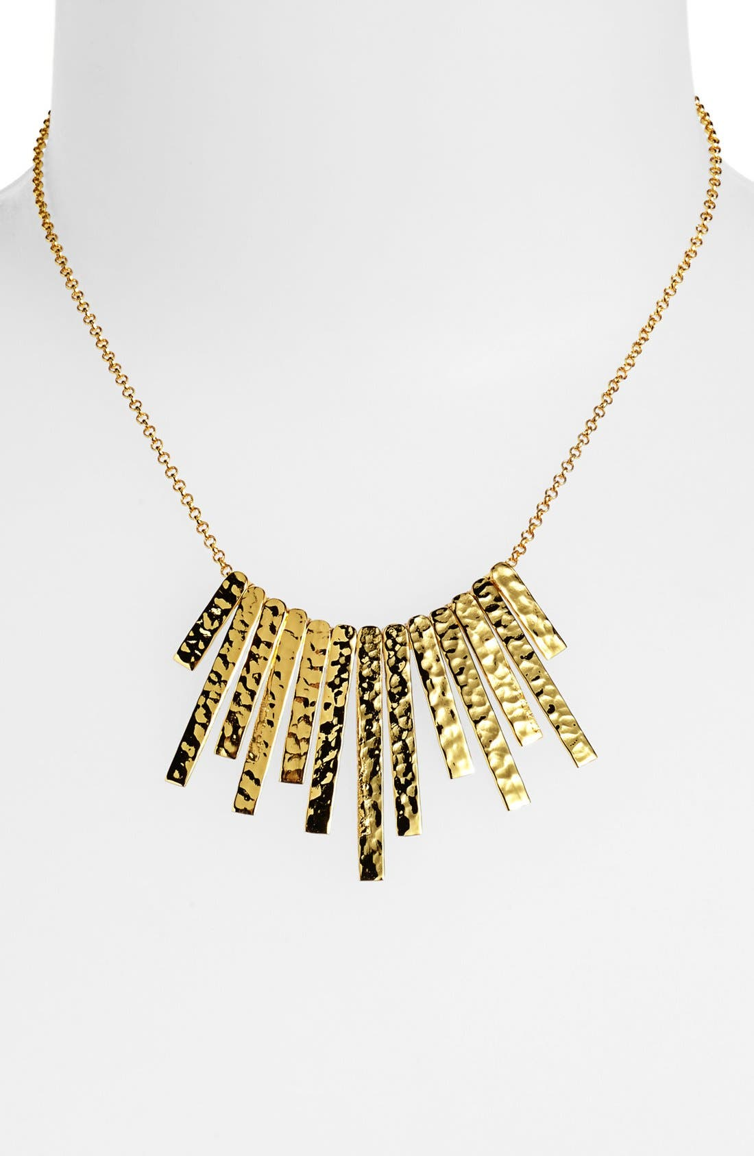 Alternate Image 1 Selected - Argento Vivo 'Sunray' Hammered Necklace