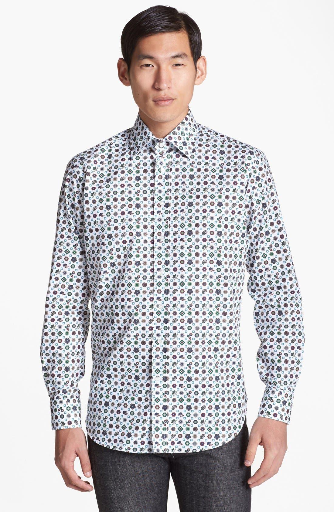 Alternate Image 1 Selected - Etro Geometric Medallion Print Cotton Shirt