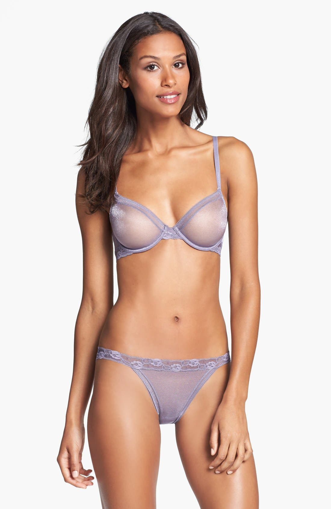 Alternate Image 3  - Calvin Klein 'Luster' Unlined Underwire Bra
