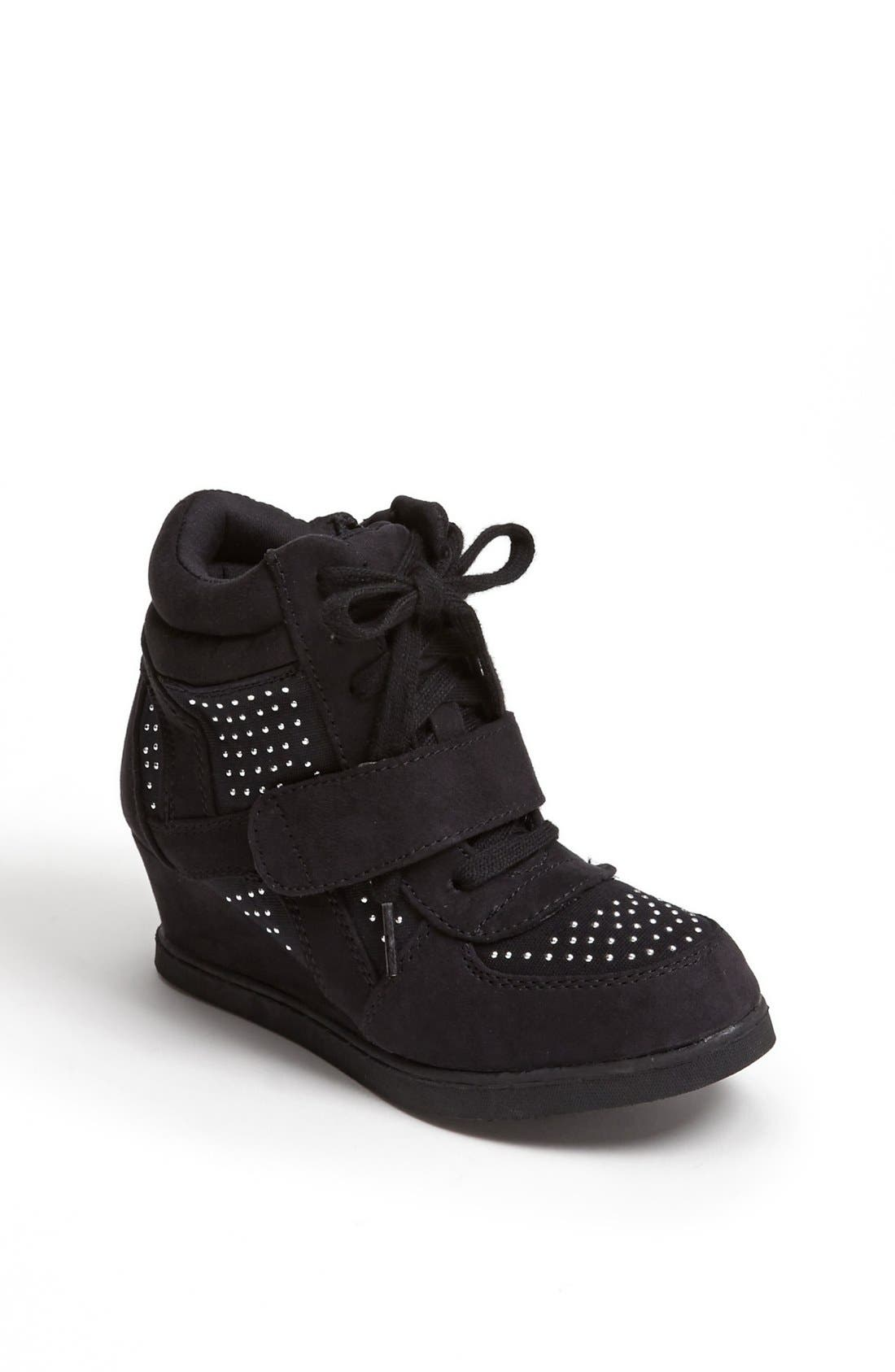 Alternate Image 1 Selected - Steve Madden 'Glamm' Sneaker Wedge (Little Kid & Big Kid)