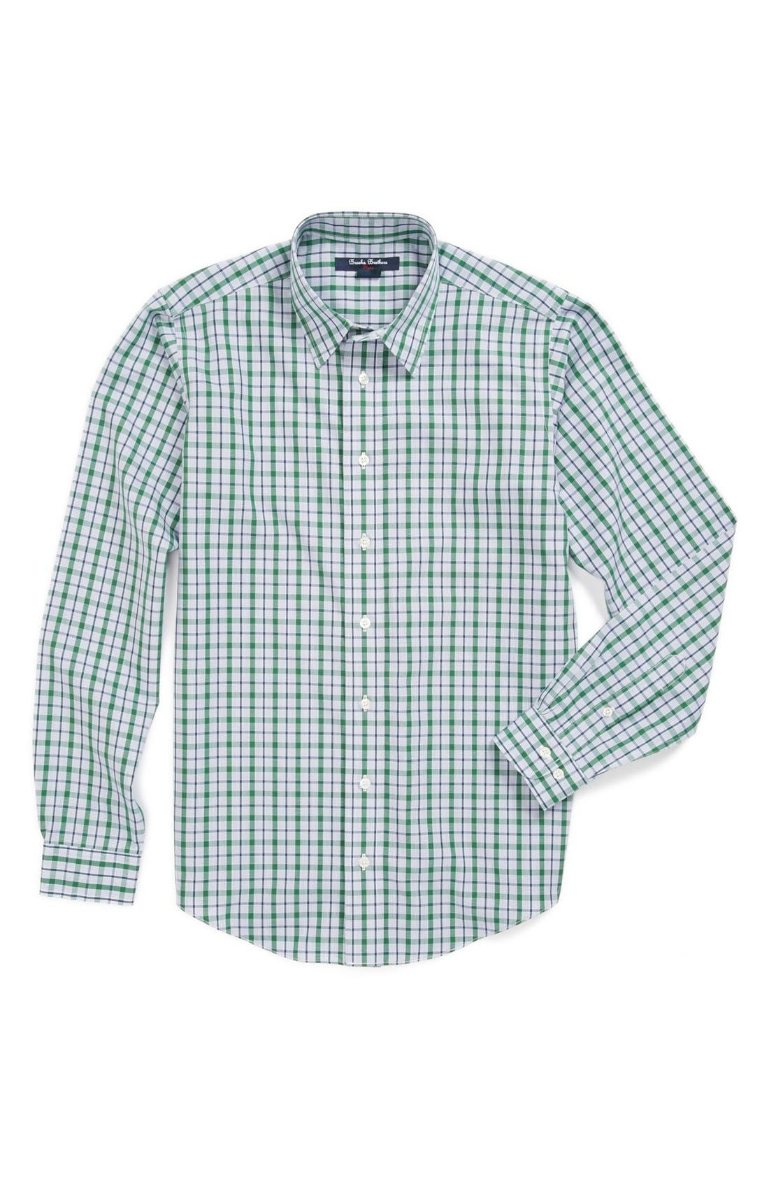 Alternate Image 1 Selected - Brooks Brothers Check Dress Shirt (Big Boys)