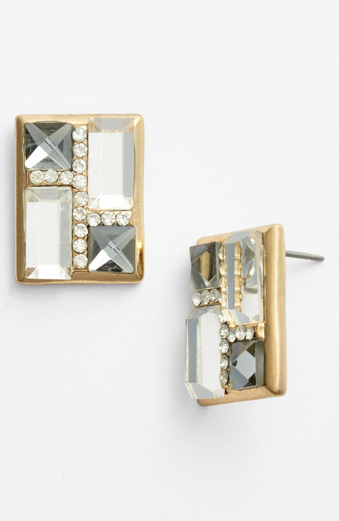 Alternate Image 1 Selected - Adia Kibur Crystal Square Earrings