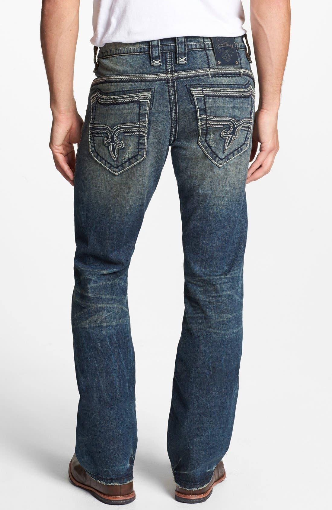 Alternate Image 1 Selected - Rock Revival 'Jonathan' Straight Leg Jeans (Vintage Blue)
