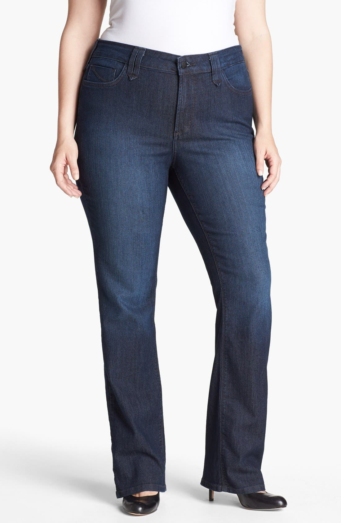 Alternate Image 1 Selected - NYDJ 'Hayden' Stretch Straight Leg Jeans (Burbank) (Plus Size)