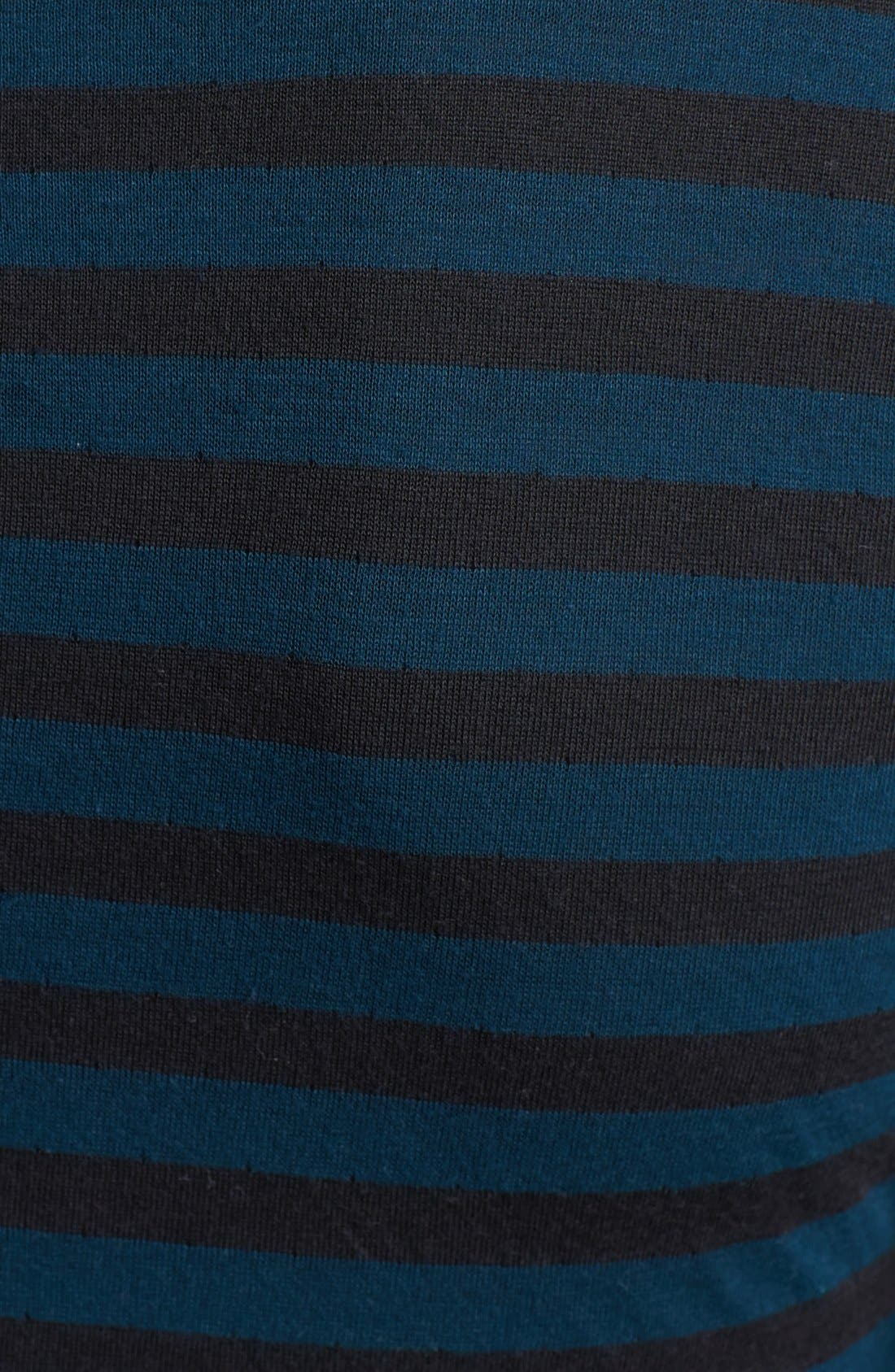 Alternate Image 3  - Three Dots Stripe Crewneck Midi Dress