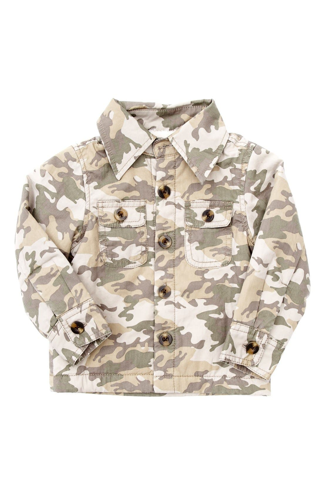 Alternate Image 1 Selected - Peek 'Heath' Camo Jacket (Baby Boys)