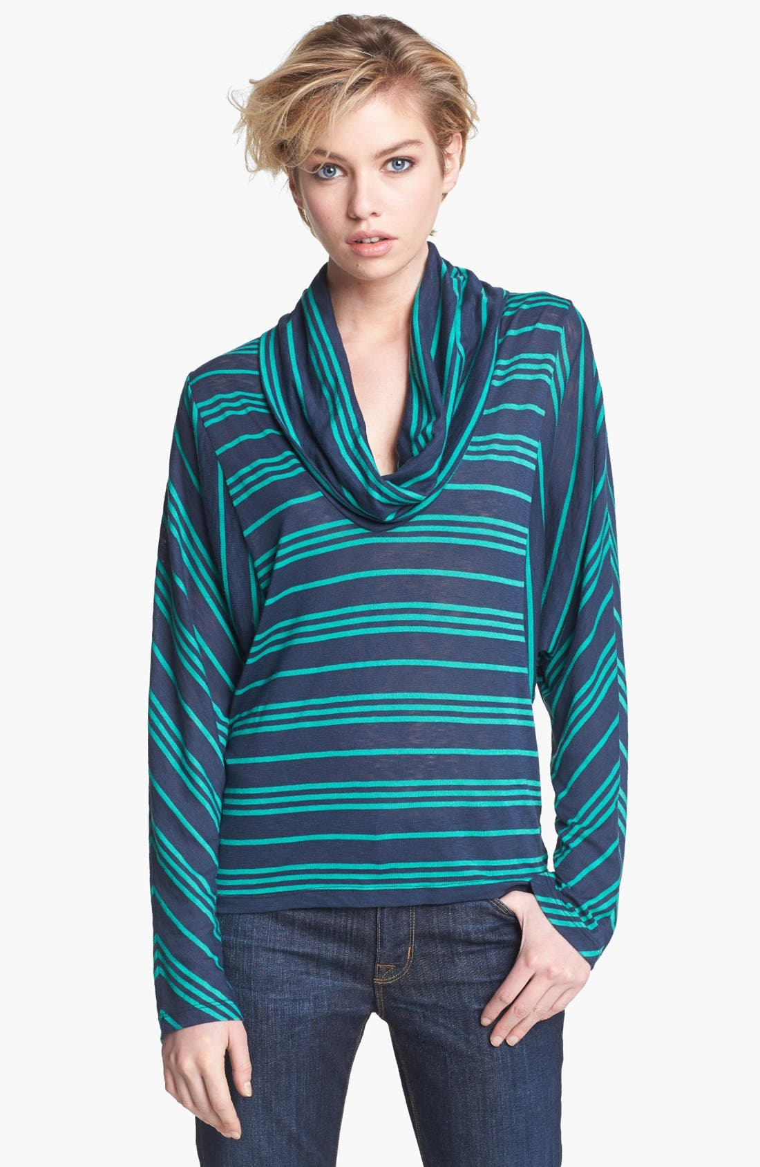 Alternate Image 1 Selected - Splendid 'Stockholm' Stripe Cowl Neck Top