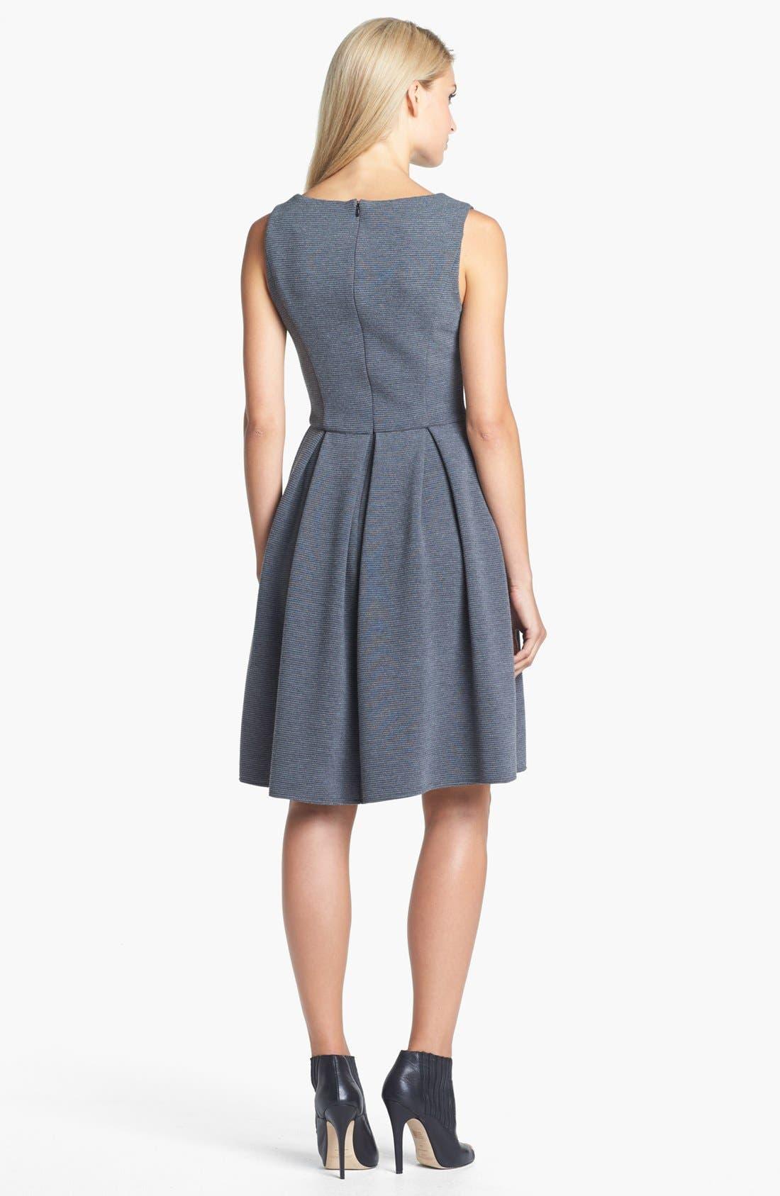 Alternate Image 2  - Isaac Mizrahi New York Ponte Knit Fit & Flare Dress
