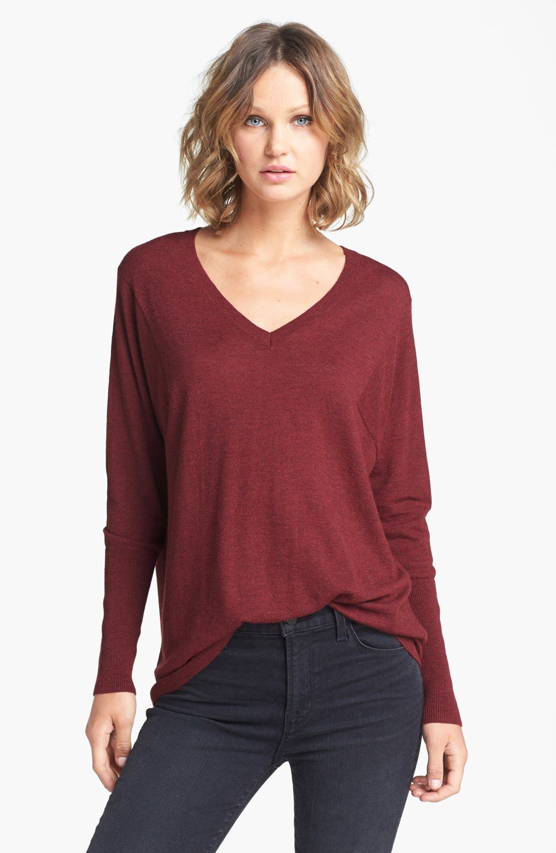 Alternate Image 1 Selected - Trouvé V-Neck High/Low Sweater