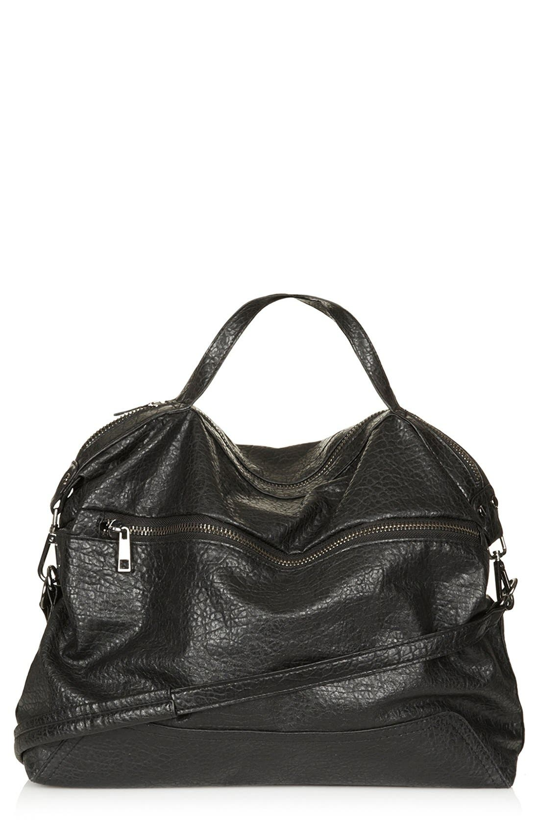 Alternate Image 1 Selected - Topshop Faux Leather Satchel