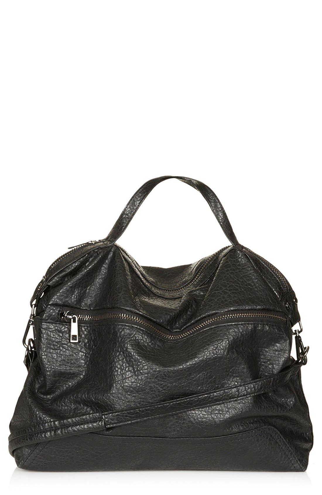 Main Image - Topshop Faux Leather Satchel